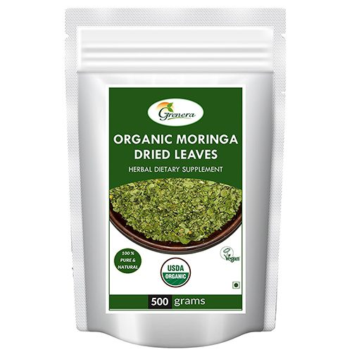 Organic Moringa Dried Leaves – 500 Gram (Whole)